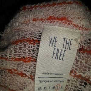 Free People Tops - Orange striped crop
